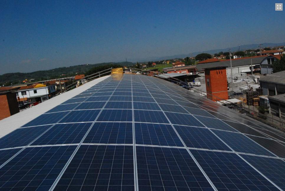 un impianto fotovoltaico realizzato da progettosole.eu